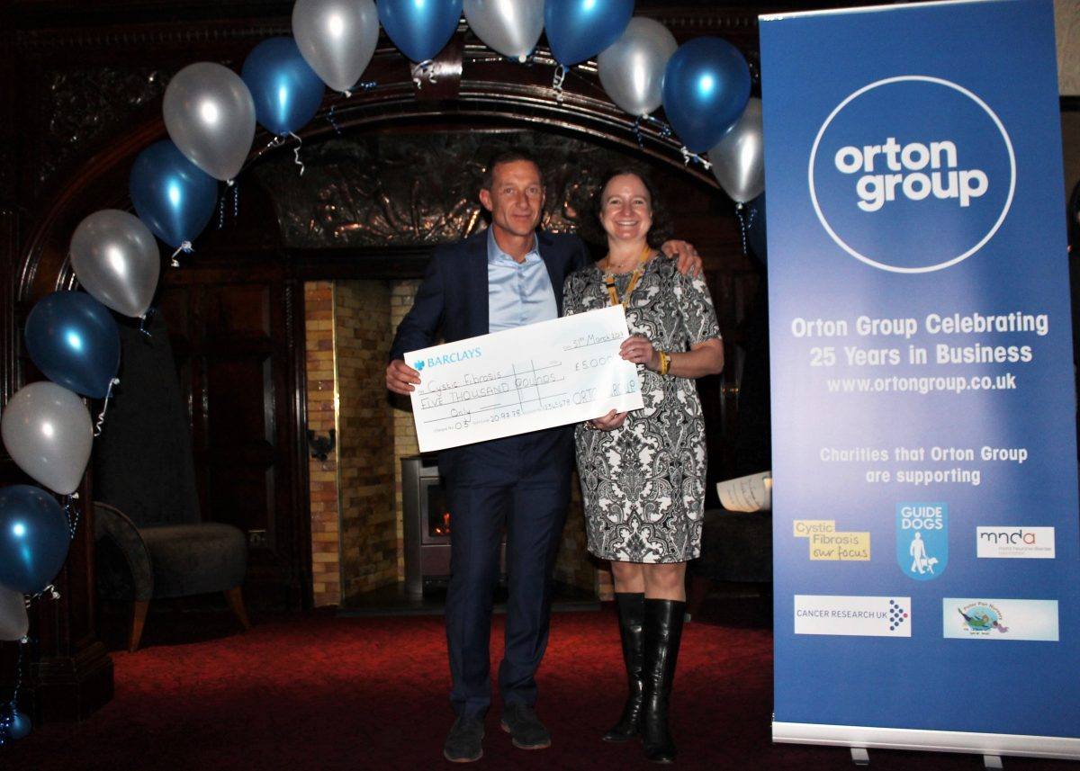 Orton Supports Cystic Fibrosis Trust